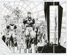 Comic Art For Sale from Albert Moy, Mastermen Issue 1 Page 14 and 15 by Comic Artist(s) Jim Lee, Scott WIlliams