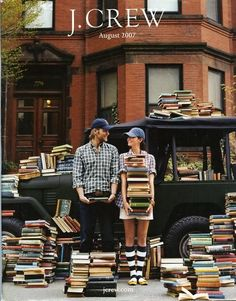 i'm in love with this ad...books and fashion! was this meant for me?