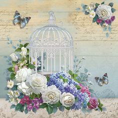 Decoupage Vintage, Napkin Decoupage, Decoupage Paper, Vintage Paper, Creative Flower Arrangements, Paisley Art, Foto Transfer, Mosaic Pictures, Printable Pictures