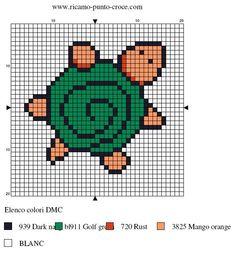 Cute as a mini pattern! Pearler Bead Patterns, Perler Patterns, Loom Patterns, Beading Patterns, Cross Stitching, Cross Stitch Embroidery, Cross Stitch Patterns, Cross Stitch For Kids, Cross Stitch Baby