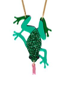 Piccadilly Lily features the latest jewellery collections from the massively talented Tatty Devine. Quirky fun and show stopping jewellery with a huge fan base. Tatty Devine, Latest Jewellery, Amphibians, Jewelry Collection, Emerald, Lily, Holiday Decor, Shopping, Orchids