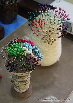 crafty goodies: Stick pins~make your own!