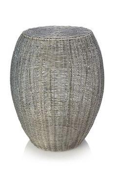 Woven Zinc Side Table
