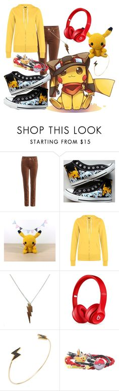 """""""Pikachu Set"""" by the-neon-emo ❤ liked on Polyvore featuring Loro Piana, Converse, Beats by Dr. Dre, Shay, fab, lightning, Pokemon, pikachu and 2fab4u"""