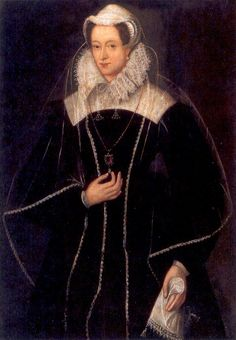 another portrait of Mary Stuart, in captivity - this one is much more life-like