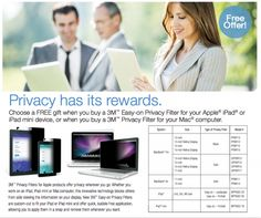 3M Rebate: Get a FREE iPhone privacy filter with qualifying purchase of 3M brand products. Expires 6/30/2014 Rebate details: http://www.biggestbook.com/dyn/rebates/content/3m_choosefreegift_3.1.14.pdf Shop at: http://www.officezilla.com/search.aspx?searchterm=3m%20privacy%20filter #office #work #rebate