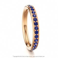 STARLIGHT | Multistone Ring with Blue Sapphire in 14k Rose Gold