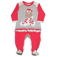 Pretty long sleeve baby grow with Zebra appliqué and contrasting spots detail.  Made from cotton.  Available in size 12-18 months only.