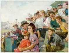 Гурвич Иосиф Михайлович (Россия, 1907-1992) «На стадионе» 1947