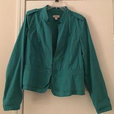 Light weight jacket Loft light weight jacket in teal. Also doubles as a blazer. Size large. LOFT Jackets & Coats