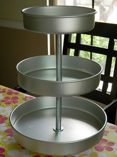 Nesting Cake Pans - These would be easy to make and spray paint in pastel colors (or cream) in high gloss finish