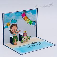 ScRapEva: Tarjeta Cumpleaños colores flúor