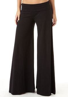 fold over wide leg pants - Pi Pants