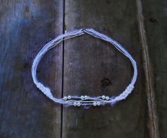 White Baby Pearl Headband Newborn Props Newborn by GabriCollection