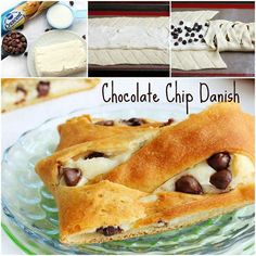 1 can  Crescent Recipe Creations  1 pkg (8 oz) cream cheese, room temp 1/4 c sugar 1 tsp vanilla 1/4 c chocolate chips Heat oven at 350°F. Line 17x12-inch cookie sheet with parchment paper Unroll dough onto cookie sheet  In medium bowl, beat cream cheese, sugar and vanilla until smooth. Spread mixture center of dough. Sprinkle chocolate chips over cream cheese mixture. Bake 20 to 22 minutes or just until golden brown.