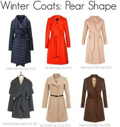 Winter Coats for the Pear Body Shape Pear Shape Body, Triangle Body Shape, Pear Body, Pear Shapes, Pear Shaped Outfits, Pear Shaped Dresses, Pear Shaped Girls, Pear Shaped Women, Claire Danes