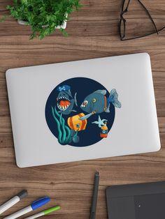 """Pirate piranhas"" Sticker by nobelbunt Canvas Prints, Art Prints, Sticker Design, Sell Your Art, Pirates, Stationery, Graphic Design, Illustrations, Stickers"