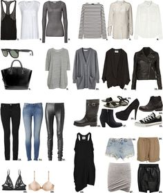 The perfect basic wardrobe | Passions for Fashion...and all in neutral colors, my favorite