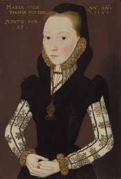 Mary  Tichborne, 1565 (Master of The Countess of Warwick)  Philip Mould, Ltd., London