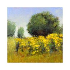 ARTFINDER: Sunshine Blooms by Don Bishop - Sunshine Blooms is a nice colorful plein air impressionist style landscape oil painting, created using palette knives and brushes. This 10x10 has lots of nic...