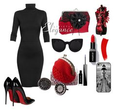 """""""elegance"""" by justforyouhm ❤ liked on Polyvore featuring Undress, Christian Louboutin, Delalle, Givenchy and TreasuresCovePolyvore"""
