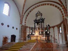 Baroque altar of the Basilica di San Nazaro in Milan (Italy)