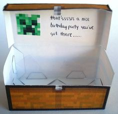 Minecraft Party Paper Craft Double Chest!