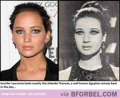 Jennifer Lawrence's Egyptian Doppelgänger…