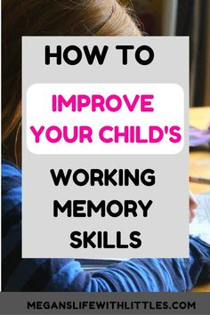Parenting hacks on How to improve your child& working memory skills. Working memory activities, Working memory activities for kids, Working memory activities games. Games To Improve Memory, Increase Memory, Memory Games For Kids, Activities For Teens, Elderly Activities, Dementia Activities, Physical Activities, Learning Activities, Working Memory
