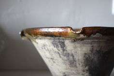 RESERVED French Antique Confit Pot Handmade Glazed Pottery Bowl Ochre 1800's par maintenant sur Etsy https://www.etsy.com/fr/listing/126872536/reserved-french-antique-confit-pot