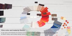 Vitra colour and material library Hella Jongerius