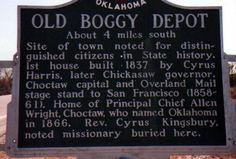 Depot State Park. MilitaryDepot markerinside theBoggy DepotState Park ...Atoka Oklahoma