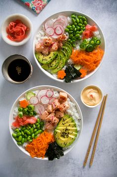 Salmon Ceviche Sushi Bowl with San J Tamari Ceviche, Peach Smoothie Recipes, Sushi Bowl, My Best Recipe, Roasted Sweet Potatoes, Dinner Dishes, Food Inspiration, Love Food, Food Photography