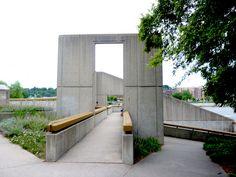 Fish Ladder Sculpture Grand River Grand Rapids MI