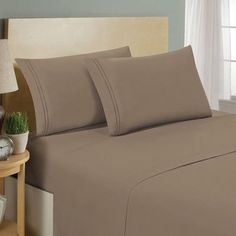 Luxe Home Collections 1500 Series Premium Bed Sheet Set Color: Taupe, Size: King