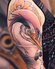 instagram.com/sbstn_tattooer – München PLEASE DON'T COPY! ⠀⠀⠀⠀⠀⠀⠀⠀⠀⠀ #animaltattoo #neotradeu #neotraditional #neotraditionals #neotraditionaltattoo #neotrad #feelfarbig #tattoossindkunst #kunstsammler #tattooart #bodyart #art #germantattooers #kunst #tattoo #tattoos #tatts #tätowierung #tätowierer #urbanart #tattoed #inked #tattoolife #inkspiration #inkaddict #instatattoo #artoftheday #topclasstattooing Life Tattoos, New Tattoos, Tribal Tattoos, Cool Tattoos, Tatoos, Pelican Tattoo, Athena Tattoo, Robin Bird Tattoos, Falcon Tattoo
