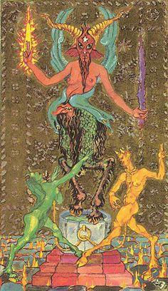Medieval Scapini Tarot - The Devil
