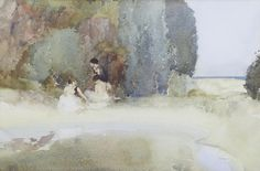 Sir William Russell Flint  Pool amid the dunes. British, 1880-1969