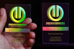 Awesome holographic business cards sample, created by Genixdesign for self promotional purpose.