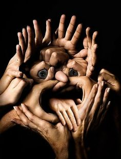 Awesome Hands | How many people do you think it took to make this face?