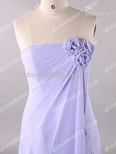 lavendar wedding dresses   2013 Lavender Strapless Long Bridesmaid Dresses Elegant Flowers Bridal ...if they carry a white carnation with evergreen greenery and lace and dark purple bow, this would give the illusion of a bouquet with the att flowers and snowball in the pine trees.  i am sure they can be detached later.