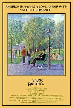 A LITTLE ROMANCE: Lauren (Diane Lane), a 13-year-old American living in Paris with her stepfather (Arthur Hill) and mother (Sally Kellerman) — who is enamored of a pretentious filmmaker (David Dukes) — falls in love with Daniel (Thelonious Bernard). He is a French film buff, and together they arrange a rendezvous under the Bridge of Sighs in Venice with the help of an aging pickpocket (Laurence Olivier).