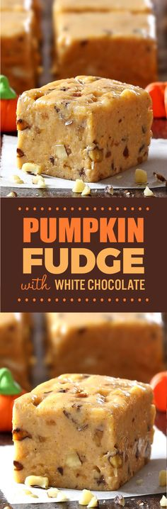 It's no trick Pumpkin pie fudge is a quick easy recipe thats great to bring to a Halloween party tailgate party or even Thanksgiving. Pumpkin Pecan Pie, Pumpkin Spice Syrup, Pumpkin Dessert, Pumpkin Cheesecake, Pumpkin Recipes, Fall Recipes, Thanksgiving Recipes, Christmas Recipes, Diy Christmas