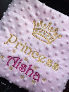 PERSONALISED Baby BLANKET Cot Pram PRINCE PRINCESS BOY GIRL Pink Blue New Gift in Baby, Nursery Bedding, Blankets & Throws | eBay