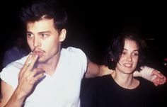 """glacir: """"When I met Johnny, I was pure virgin. He changed that. He was my first everything. My first real kiss. My first real boyfriend. My first fiancé. The first guy I had sex with. So he'll always be in my heart. Forever. Kind of funny that word."""" - Winona Ryder"""
