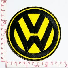 Yellow VW Volkswagen Motorsport Racing Patch Symbol Jacket T-shirt Patch Sew Iron on Embroidered Sign Badge Costume -- Awesome products selected by Anna Churchill