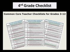 These fourth grade common core checklists help teachers plan lessons, differentiate instruction and organize standards.(Free six-page, user-friendly download) Get free resources and lessons delivered to your inbox once a month at http://visitor.r20.constantcontact.com/manage/optin/ea?v=001_Sihum3TrbPEDe4tqrPgPA%3D%3D