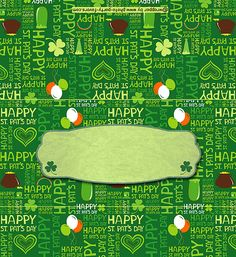 FREE Printable St. Patrick's Day Candy Bar Wrapper, features the words - Happy St. Pat's Day - in subway art style, ready to personalize with your message. More free printables at http://www.photo-party-favors.com/