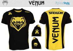Shogun Rua Team Shockwave Shirt - Black & Yellow http://www.fighterstyle.com/shogun-team-shockwave-shirt/