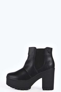 Lily Cleated Pull On Chelsea Boot